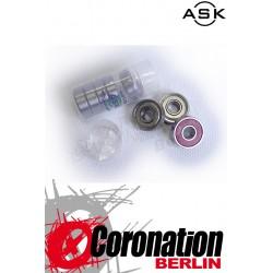 ASK Kugellager Speed Bearings ABEC7 Neoprene