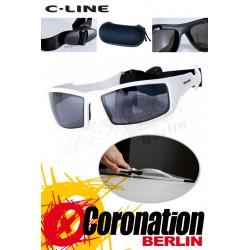 C-Line Davy Kite Sonnenbrille - White Glossy