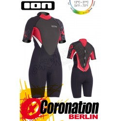 ION Pearl Shorty 2,5 DL woman neopren suit Black/Red