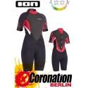 ION Pearl Shorty 2,5 DL Frauen Neoprenanzug Black/Red