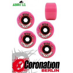 ABEC11 wheels Pink Powerballs wheels 72mm 78a