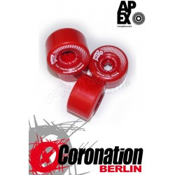 APEX Red barrereon 70mm 80a roulettes Set