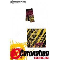 Ripzone Boardshorts Retro Fade Coral/Yellow