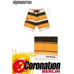 Ripzone Boardshorts Rugby Stripe Chocolate/Orange