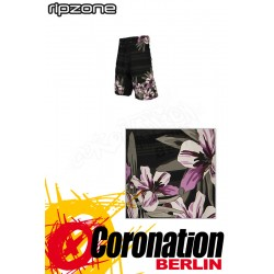Ripzone Boardshorts Watercolour Floral Black