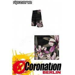 Ripzone Boardshorts Watercolour Floral Black
