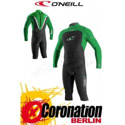 O'Neill Gooru GBS 3/4 Length 4/3 LS combinaison neoprène vert