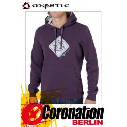 Mystic Brand Sweat Hoodie Deep Purple Swaetshirt