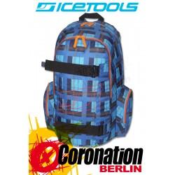 ICETOOLS Getaway Skate & Freizeit Backpack Schul & Sport Rucksack Check Blue
