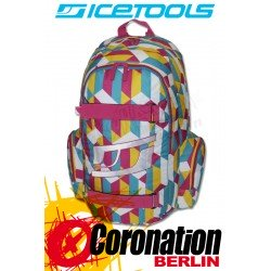 ICETOOLS Getaway Skate & Freizeit Backpack Schul & Sport Rucksack Pink Multi Color