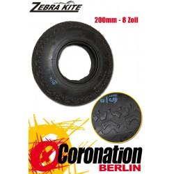 Zebra Kite Landboard Reifen-Decke 200mm 8Zoll