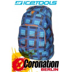 ICETOOLS Rucksack Backpack Cruzer - Check Blue