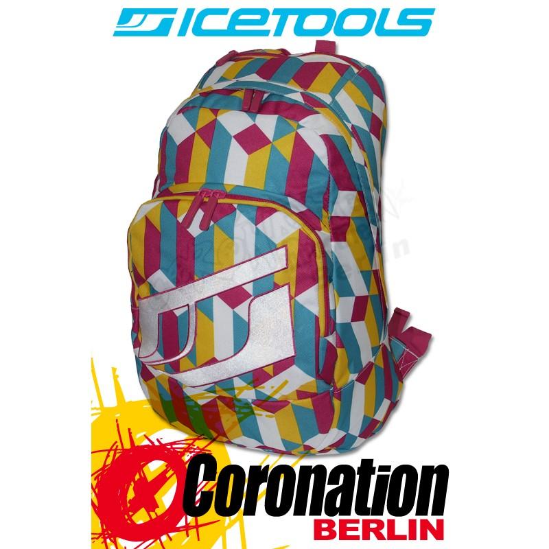 ICETOOLS Cruzer Freizeit Laptop Rucksack Street & Schul Backpack Pink Multi Color