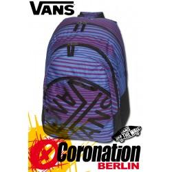 Vans Checkerboard Backpack Fashion-Rucksack Blue/Lila Stripes