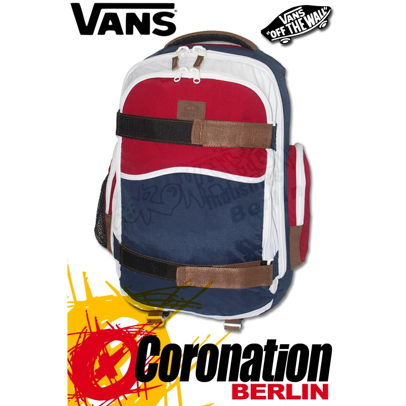 Vans Transient Schul-Skateboard-Rucksack Dress Blues Color Block