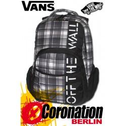 Vans 5-0 Skatepack Schul-Street Rucksack Black/White/Gray Plaid