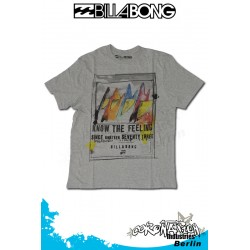 Billabong Twin Fin T-Shirt Grey Heather