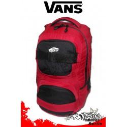 Vans Shroud Black/Red Street & Skateboard Rucksack