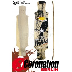 Airflow Longboard Deck Around The World 101cm