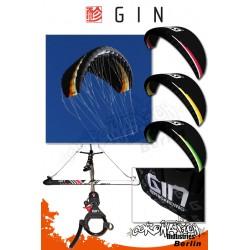 Gin Yeti 8m² Softkite Snowkite avec barre