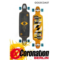 GoldCoast Serpentagram Drop Through Yellow Longboard