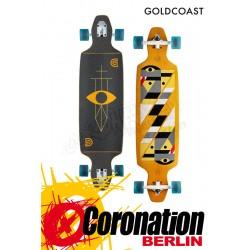 GoldCoast Serpentagram Drop Through Yellow Longboard