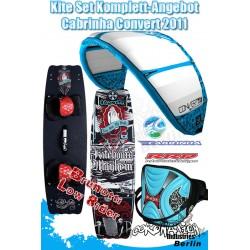 Kite Set Komplett - Cabrinha Convert 2011 9m² - Lowrider -Trapez
