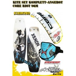 Kite Set Komplett - Core Riot 9 m² - Gaastra Xenon - RRD Trapez