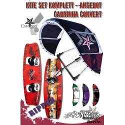 Kite Set Komplett - Cabrinha Convert 12 m² - mit Bar - Ripper