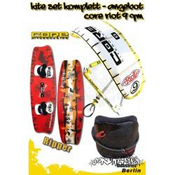 Kite Set Komplett - Core Riot 9m² - Ripper - Cabrinha Trapez