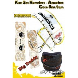 Kite Set Komplett - Core Riot 9m² - Big Daddy - Cabrinha Trapez
