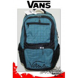 Vans Doozie Enamel Blue Turquoise-Grau Karo Skateboard-Rucksack