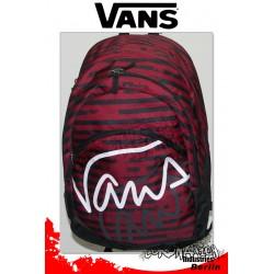 Vans Turnout Poison Rot-Weiß Streifen Fashion Rucksack