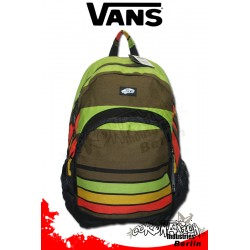 Vans Van Doren Cafe-Orange-Grün Stripes Fashion Rucksack