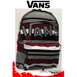 Vans Mohican Grau-red-white Stripes Street-Sport Rucksack