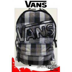 Vans Mohican White-Grau-Blau Karo Street-Skateboard Rucksack