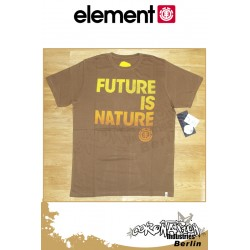 Element T-Shirt Planet Future S/S Fitted - Mocha