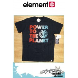 Element T-Shirt Planet Future S/S Fitted - Black