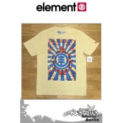 Element T-Shirt Scrolls S/S Regular - Vintage Yellow