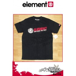 Element T-Shirt Horizontal Slash S/S Regular - Black