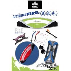 HQ Powerkites 2010 Crossfire II 8.0 R2F 4-Leiner Kite