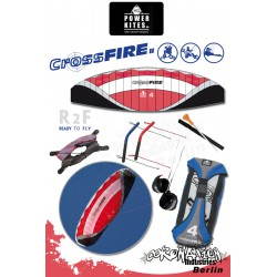 HQ Powerkites 2010 Crossfire II 4.0 R2F 4-Leiner Kite