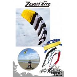 Zebra Kite 4 Leinen Kite CHECKA complète - 3.4m²