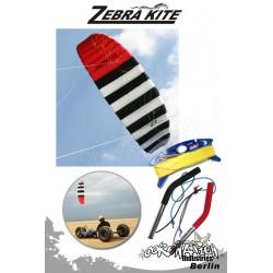 Zebra Kite 4 Leinen Kite Zebra Z1 Komplett - 3.4m²