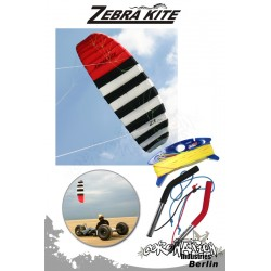Zebra Kite 4 Leinen Kite Zebra Z1 complète - 2.5m²