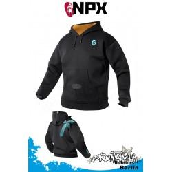 NPX Neopren Kite Jacke Wind Hoodie 2mm - Schwarz