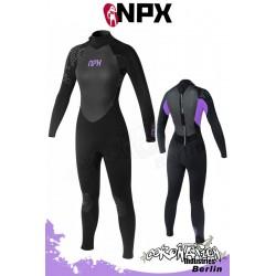 NPX Frauen Neoprenanzug Vamp SD 5/4/3 GBL - Schwarz/Purple