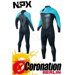 NPX Cult SD 5/4/3 GBL Neoprenanzug Schwarz/Aqua