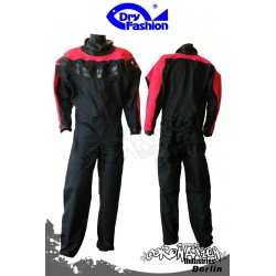 Dry Fashion Trockenanzug BASIC Front RV - Schwarz/Rot