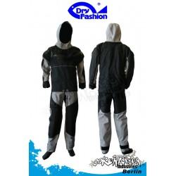 Dry Fashion Trockenanzug ICE Front RV - Schwarz/Grau